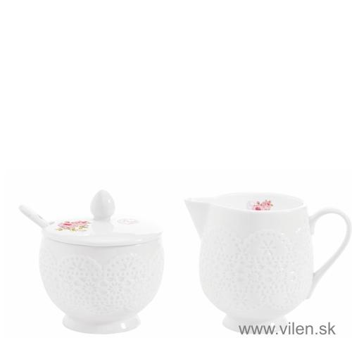 vilen porcelan cukornicka a mliecnik 1023rse