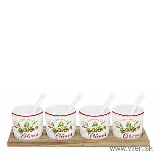 vilen porcelan misky 822 oliv