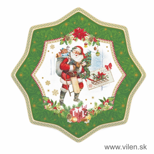 vilen-porcelan-vianocne tanier