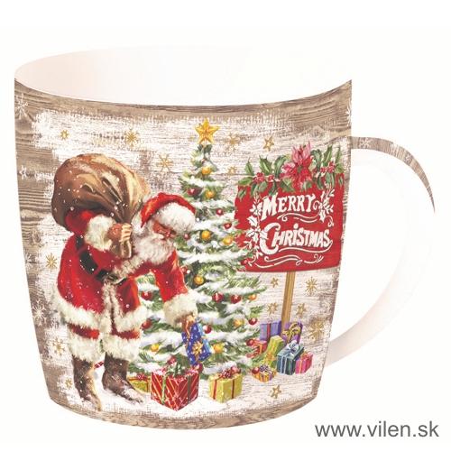 vilen-porcelan-vianočny hrnček v plechu