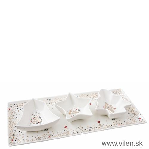 vilen-vianočny podnos s miskami