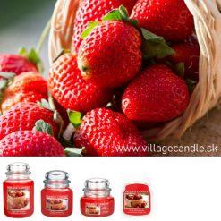 vonna sviečka village candle fresh strawberries