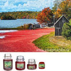 vonna sviečka village candle nantucket cranberry